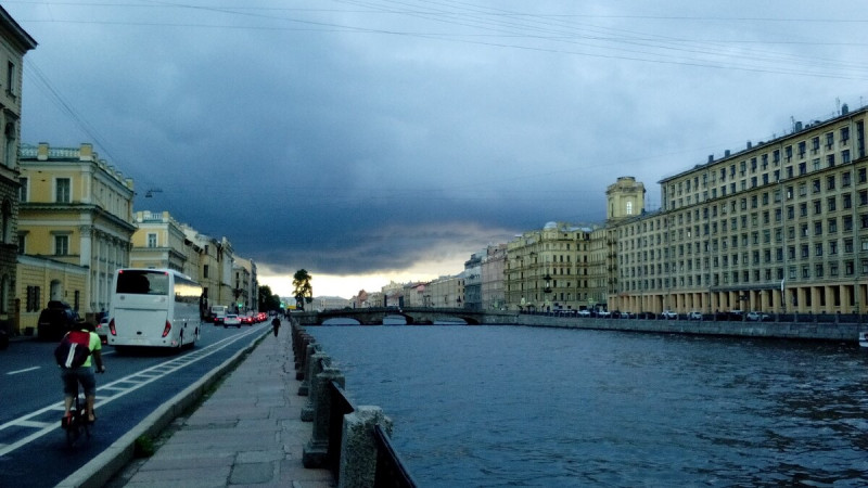 Казусы Петербургской погоды. Тучи и солнце. Между дождём и светом - 5 мин.