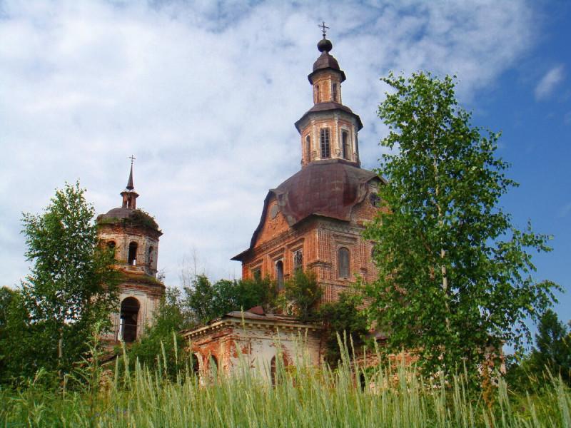 Церковь Богоявления Господня в с.Рябиново (Кировская область)