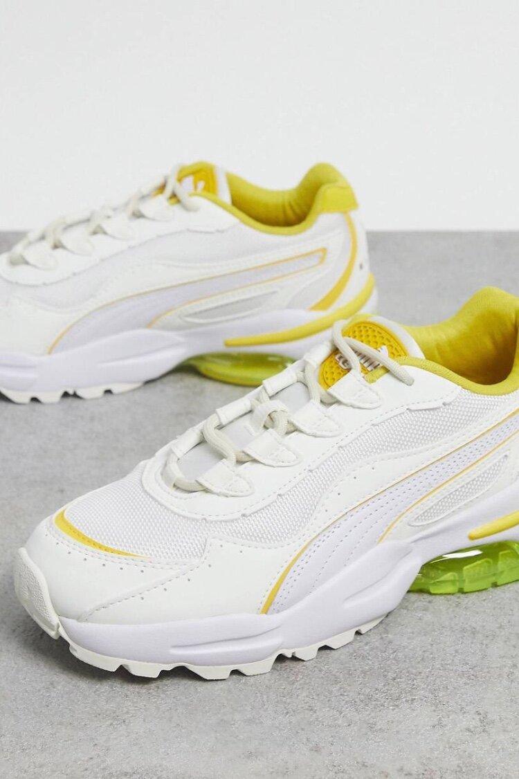 Кроссовки белого/желтого цвета Puma Cel Stellar