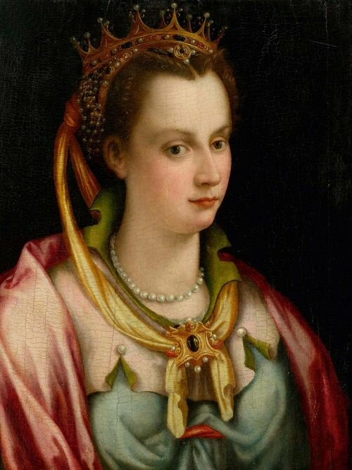 Св. Екатерина. Ф. Морандини. Продана на аукционе в Галерея Келлер (Цюрих)
