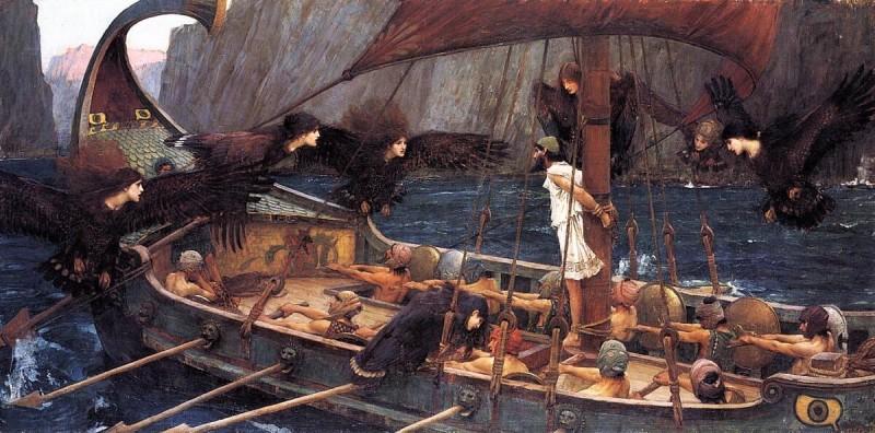 """Джон Уильям Уотерхаус - """"Улисс и сирены"""" (1891 г.)"""