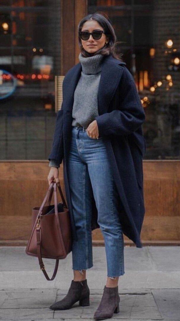 Можно сочетать с прямыми джинсами или длинной юбкой.