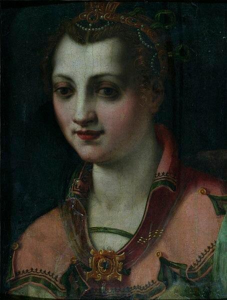 Женский портрет. Ф. Морандини. Коллекция музея V&A.