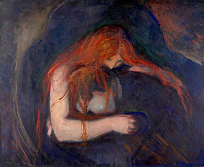 """Эдвард Мунк - """"Вампир"""" (1893)"""