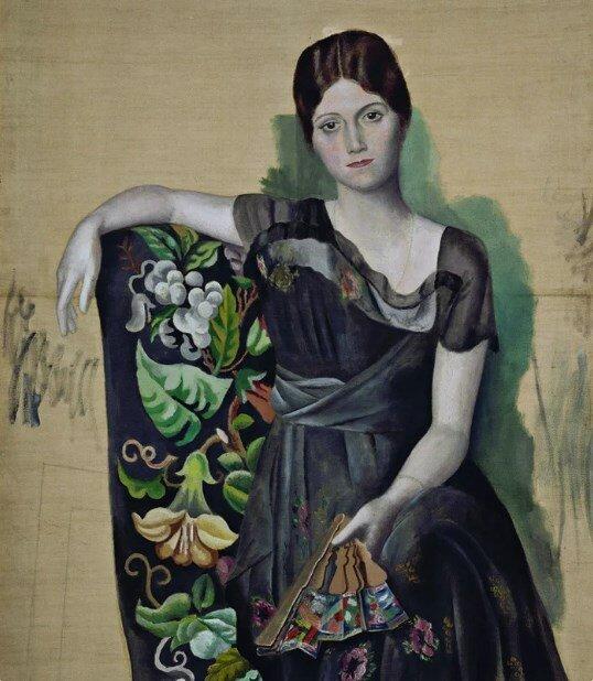«Портрет Ольги в кресле», 1917 год