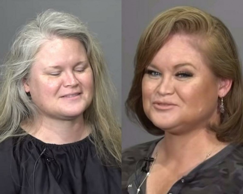 """Женщину в 48 лет называли бабаушкой. Причёска и макияж """"стёрли"""" 20 лет с её лица"""
