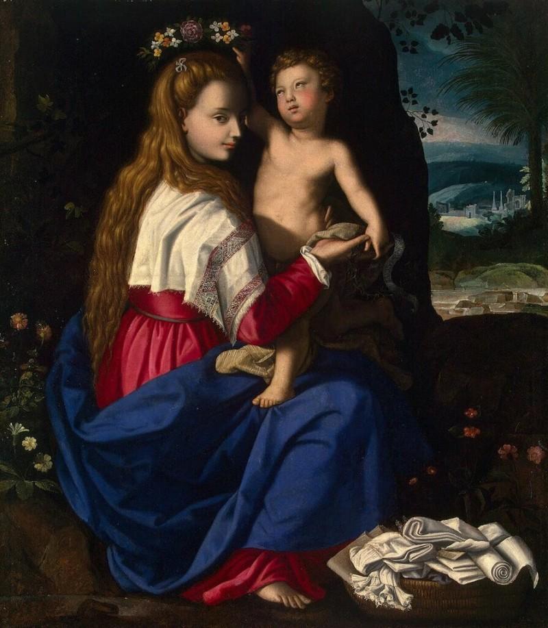 Мадонна с младенцем. Аллесандро Аллори