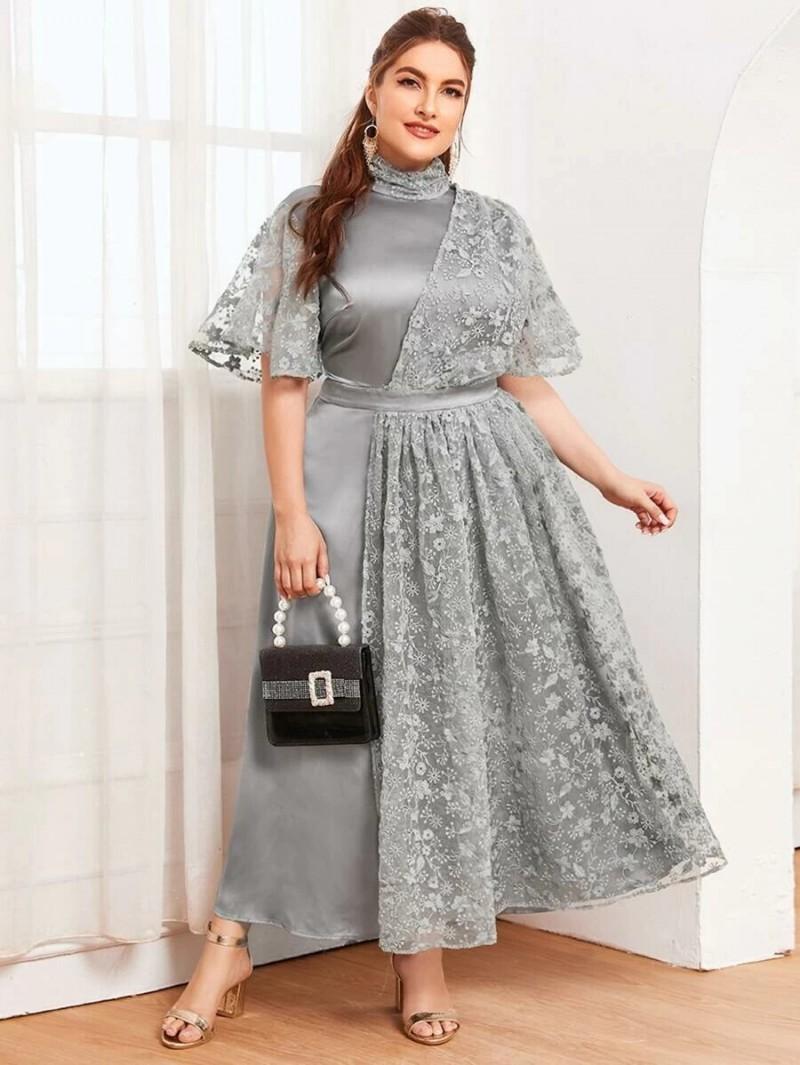 Недорогие новогодние платья женщинам/девушкам PLUS SIZE