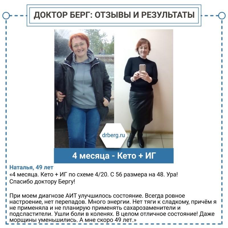 Кето и интервальное голодание. Отзывы: Наталья, 49 лет, похудела с 56 до 48 размера.