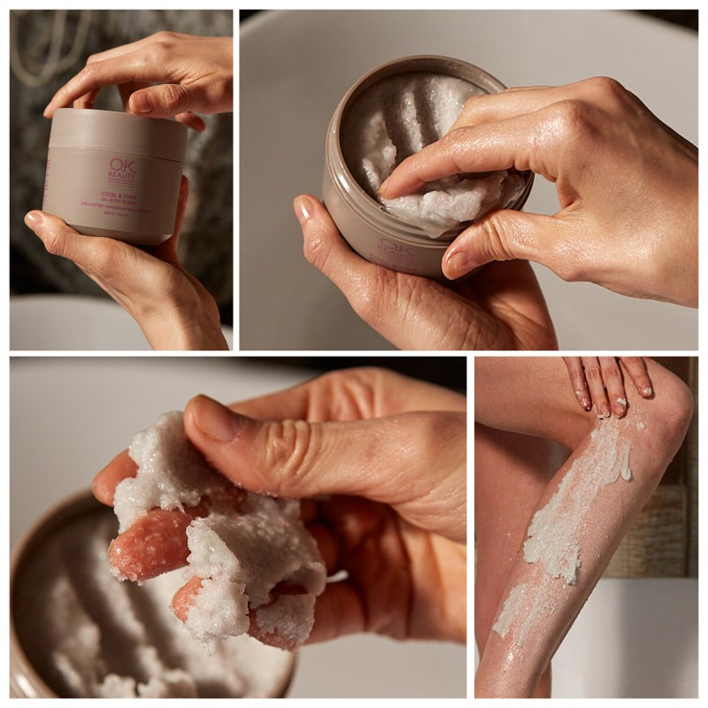 Скульптурирующий скраб для тела с охлаждающим эффектомOK BEAUTY COOL & FIRM OIL BODY SCRUB
