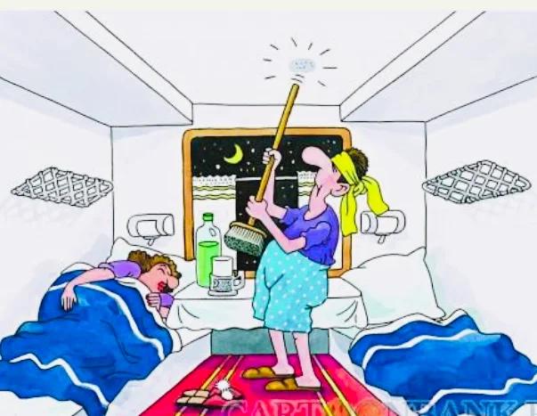 Анекдот: в поезде женщина говорит мужчине: «скучная поездка, развлечься бы как-нибудь»!