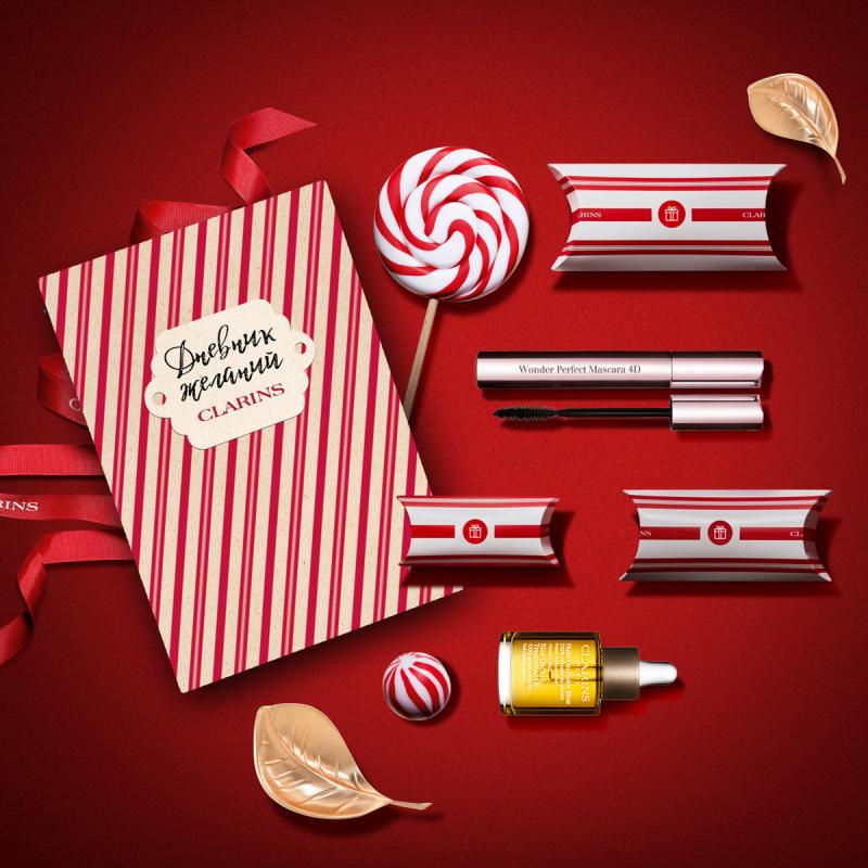 Новогодний чат-бот от Clarins помогает исполнить ваши бьюти-желания, подобрать подарки и получить их