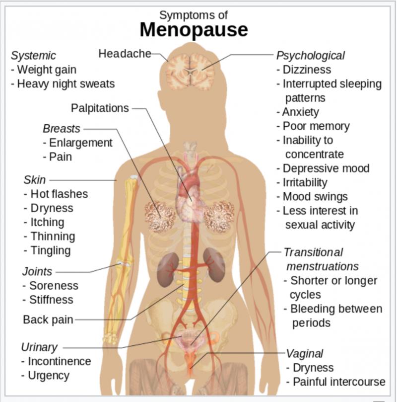 Копия из Википедии (англ.). Рисунок - схема с перечнем симптомов.