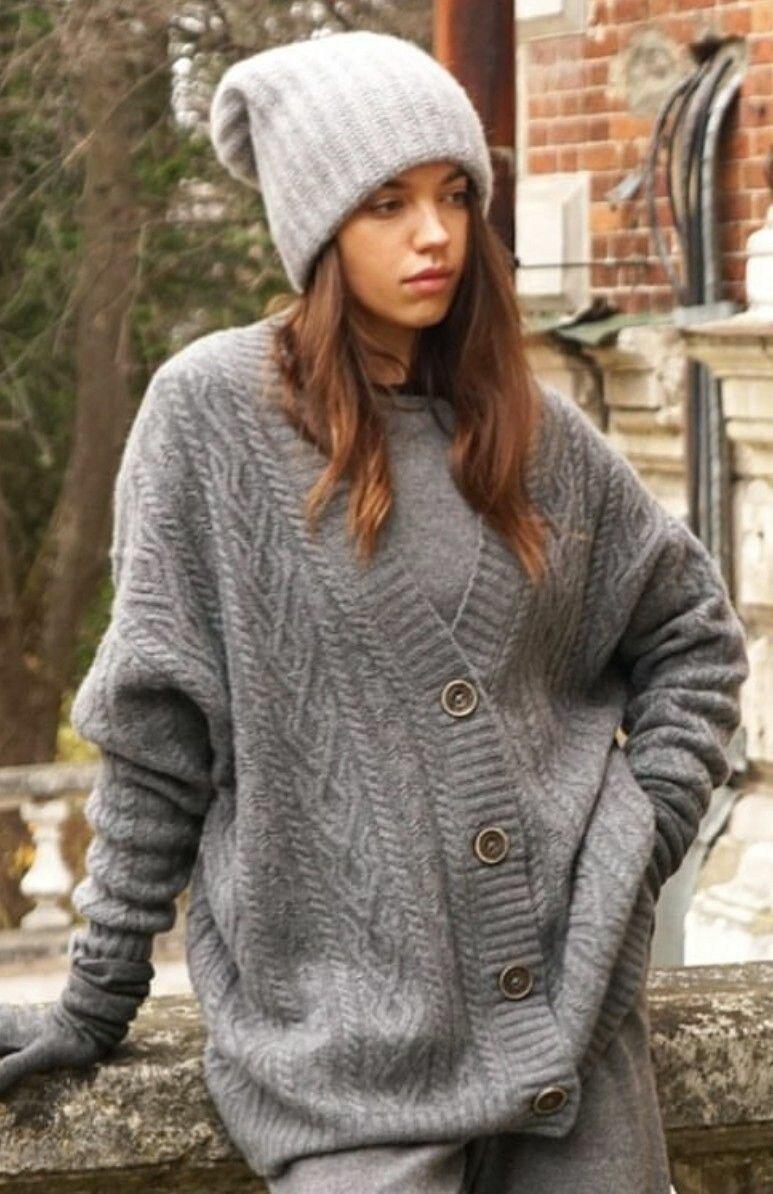 Шерстяной пуловер и кардиган