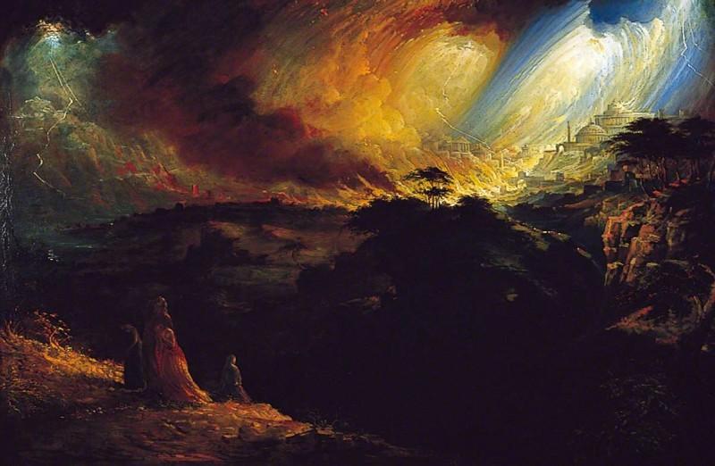 Джон Мартин – Разрушение Содома и Гоморры 1852 холст, масло