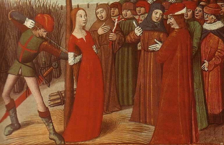 За что европейцы казнили женщин