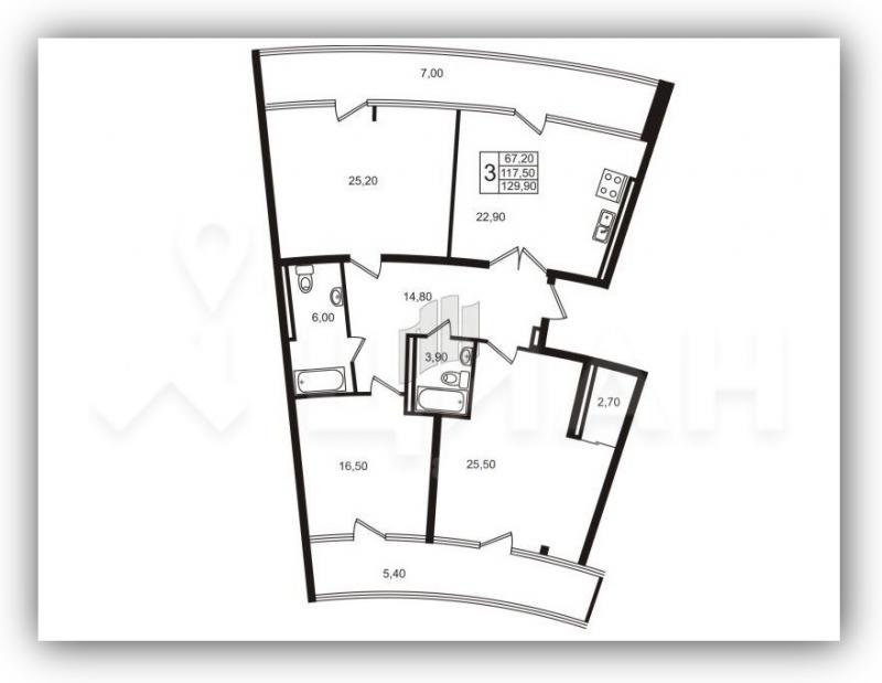 В новых домах встречаются и Г-образные коридоры почти на 15 квадратов. Странное и совсем не эргономичное решение