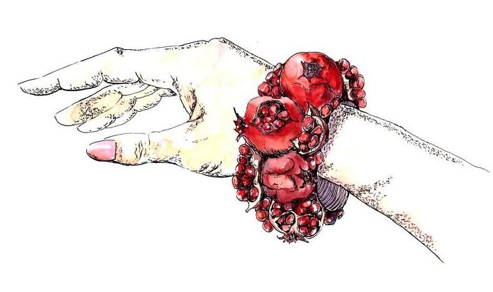 Гранатовый браслет (автор иллюстрации Katusha)