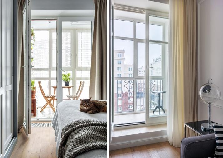 Единственная законная возможность присоединить лоджию — сделать более высокую раздвижную или распахивающуюся дверь. Лоджия все равно будет отделена от комнаты, но визуально будет казаться ее продолжением.