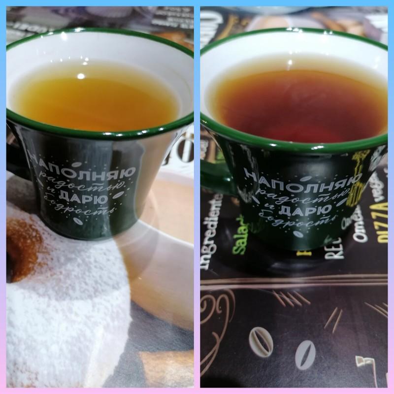 Зелёный и чёрный чай.