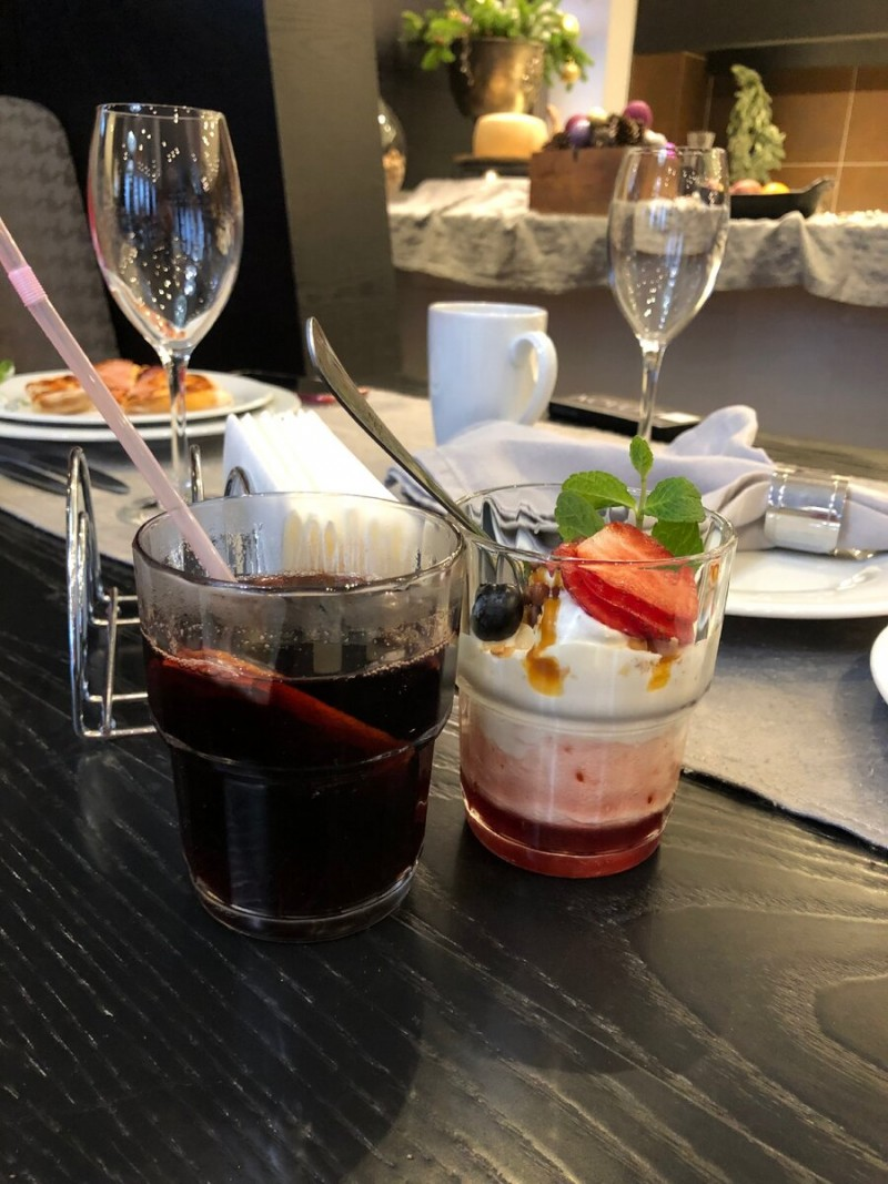 Десерт -коктейль и глинтвейн