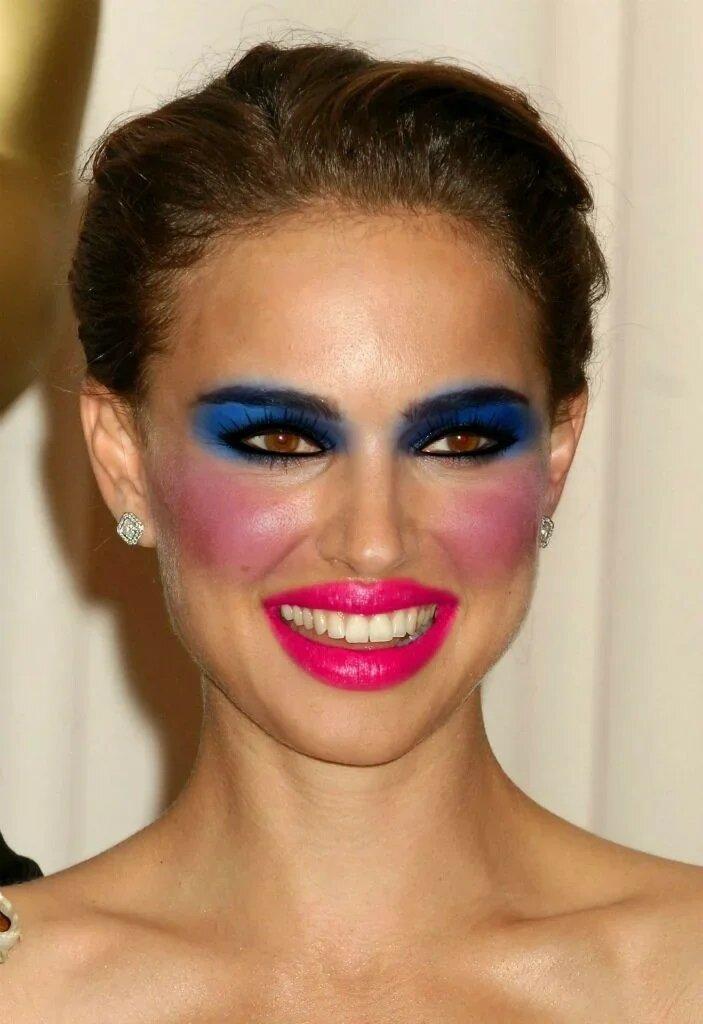 Плохой макияж. Источник: Яндекс картинки.