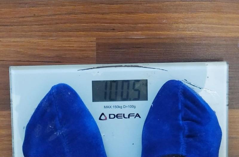Вот так я увидела на весах страшную цифру.