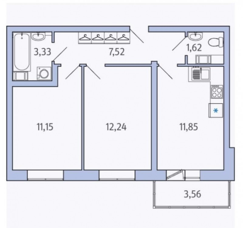 Продуманная планировка и комнаты правильной формы, где можно все удобно разместить, не загружая пространства