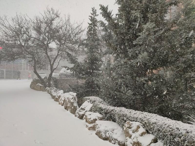 Классический Севастопольский городской пейзаж, но только всё под снегом