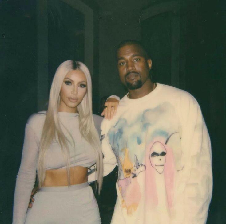 Ким со своим мужем