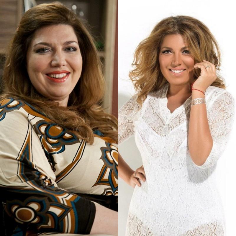 Екатерина до и после похудения