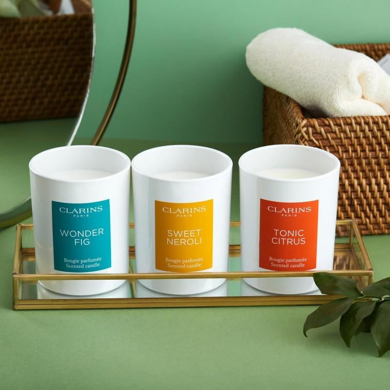 Коллекция ароматических свечей представлена эксклюзивно в официальном интернет-магазине Clarins