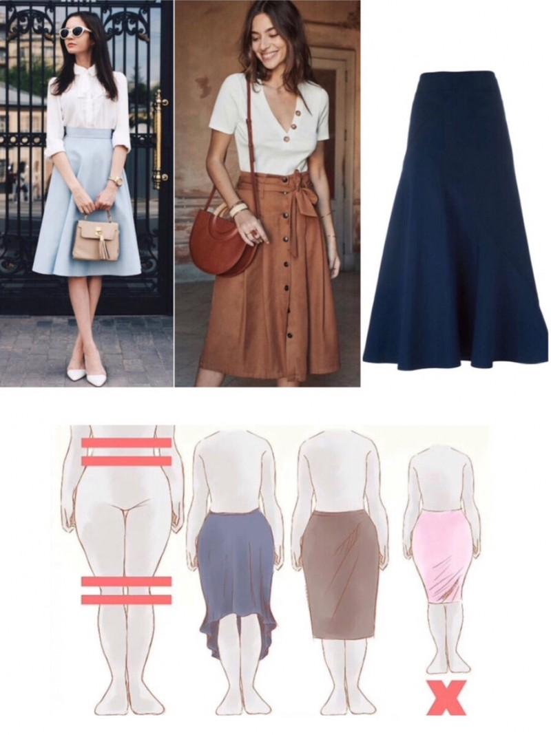Правильная одежда для женщин с фигурой груша.