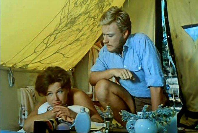 Андрей Миронов и Наталья Фатеева в фильме «Три плюс два», 1963 год