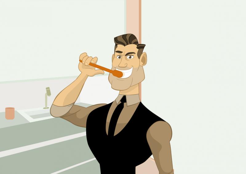 9 способов похудеть для ленивых - чистите зубы!