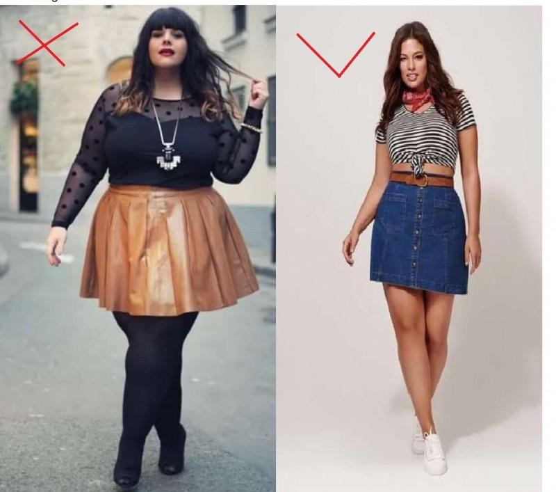 Одежда, которая не подходит пышным женщинам