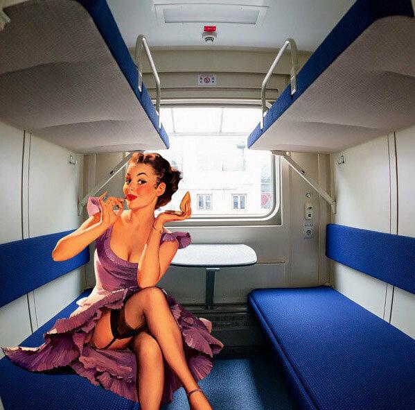 """Анекдот: """"Как женщина с голым грузином в поезде ехала."""""""