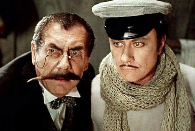 Андрей Миронов и Анатолий Папанов в фильме «12 стульев», 1976 год