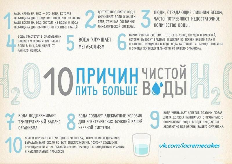 Причины начать пить много воды!