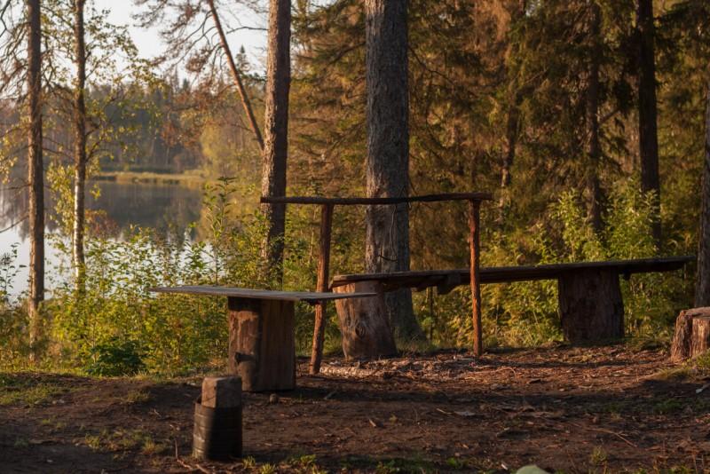 На Большом Карахатском организовано место для отдыха