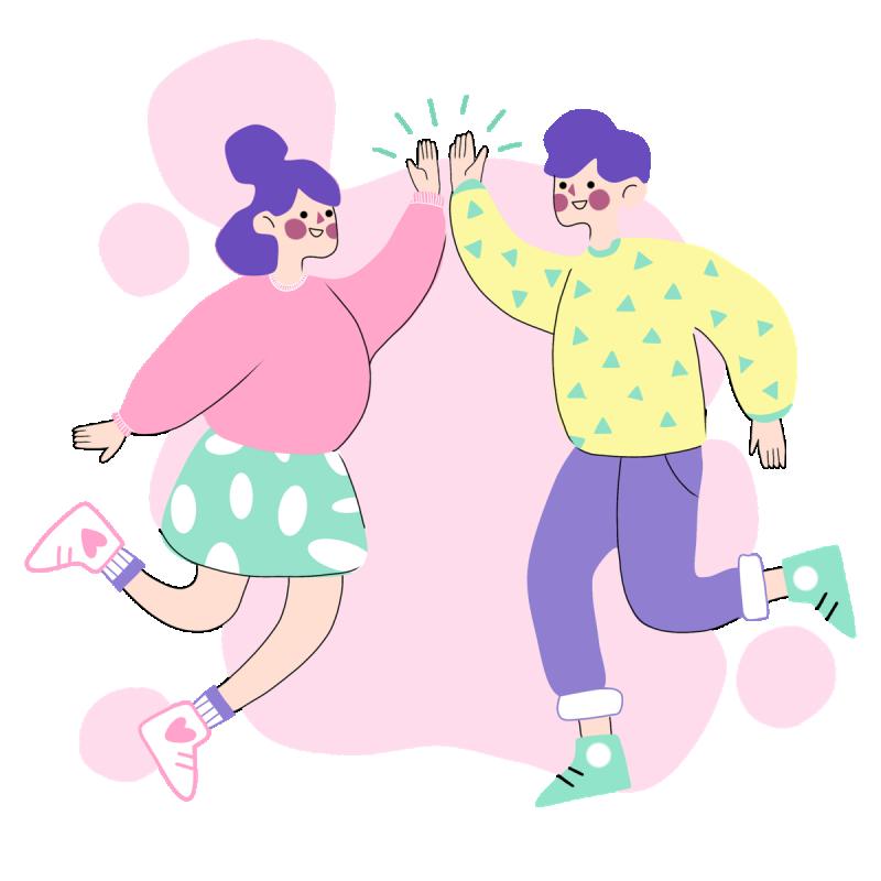 источник: https://pixabay.com/illustrations/couple-high-five-girl-boy-man-5963678/
