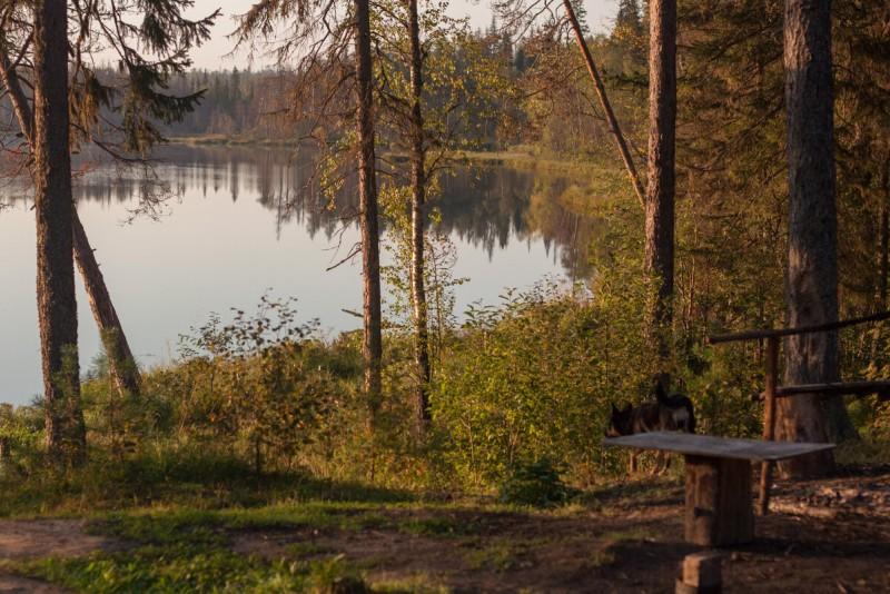 Озеро Большое Карахатское, конец августа