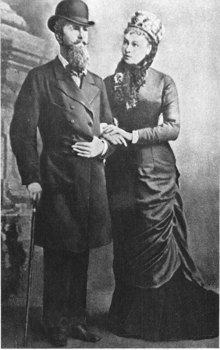 Герцог  Николай  Нассауский с женой Натальей Александровной