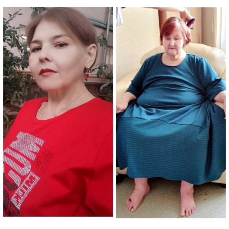 Руденко и Нурдинова после похудения / Мой коллаж