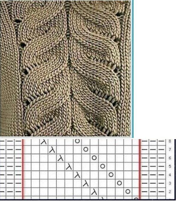 Образец и Схема вязания