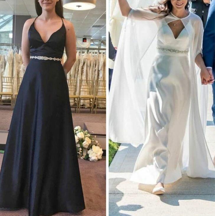 20+ женщин демонстрируют потрясающие свадебные платья, которые они купили по дешевке