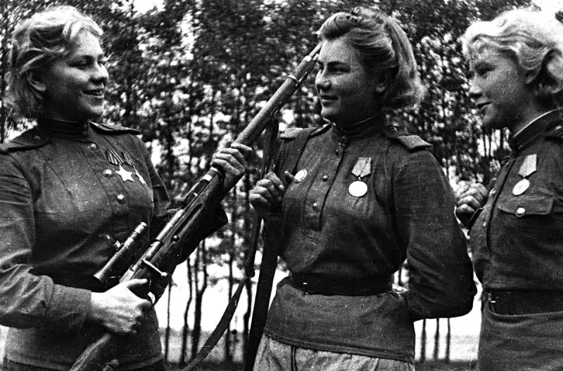 Роль женщин в победе над нацистами.
