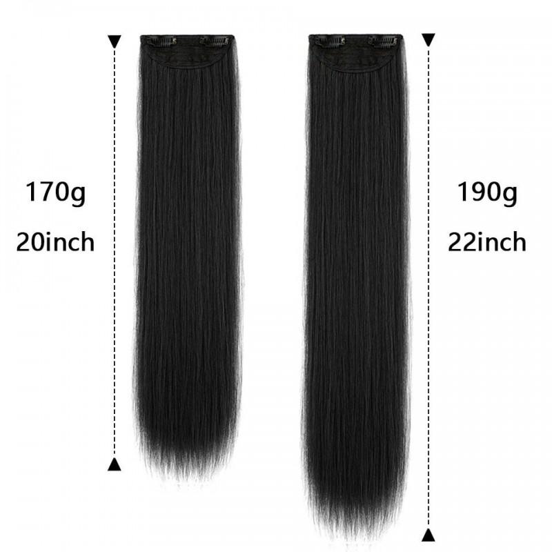 Длинные прямые черные волосы